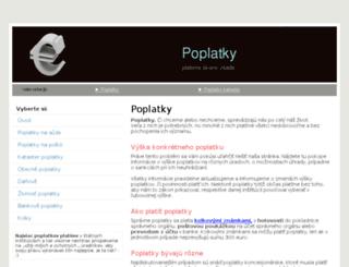 poplatky.emka.sk screenshot
