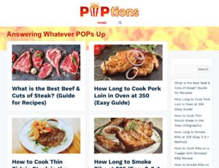 poptionspopcorn.com screenshot