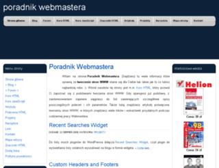 poradnik-webmastera.com screenshot