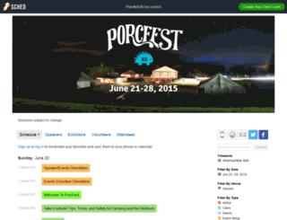 porcfest.sched.org screenshot