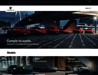 porsche.mx screenshot