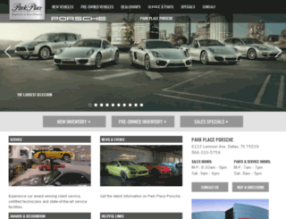 porschedallas.parkplacetexas.com screenshot