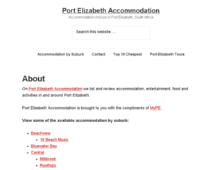 port-elizabeth-accommodation.co.za screenshot