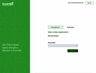 portal.greenskycredit.com screenshot