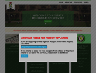 portal.immigration.gov.ng screenshot