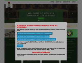 portal.immigration.gov.ng screenshot