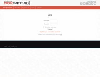 portal.musicinstitute.com.au screenshot