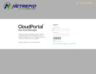 portal.netrepid.com screenshot