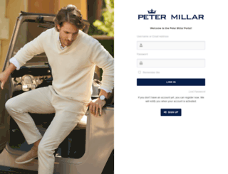 portal.petermillar.com screenshot