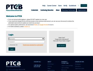portal.ptcb.org screenshot