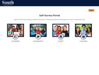 portal.southuniversity.edu screenshot