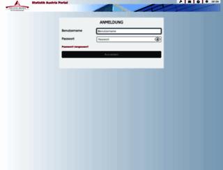 portal.statistik.at screenshot