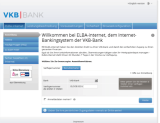 portal.vkb-bank.at screenshot