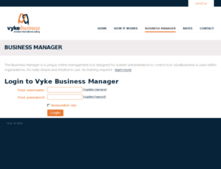 portal.vykebusiness.com screenshot