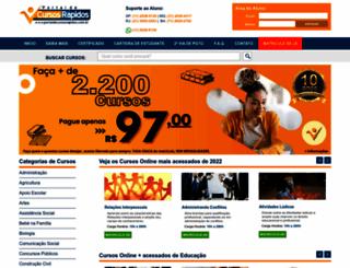 portaldecursosrapidos.com.br screenshot
