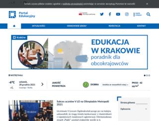 portaledukacyjny.krakow.pl screenshot