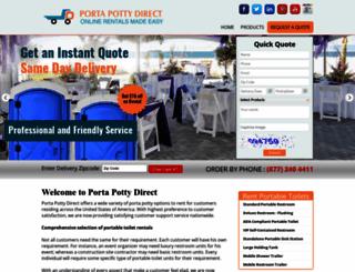 portapottydirect.com screenshot