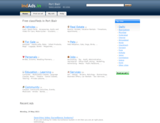 portblair.indads.in screenshot