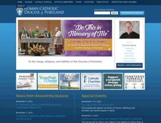 portlanddiocese.net screenshot