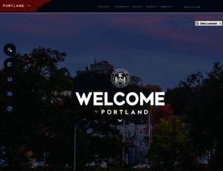 portlandmaine.gov screenshot