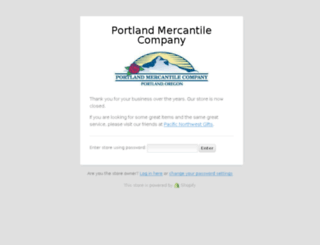 portlandmercantile.com screenshot