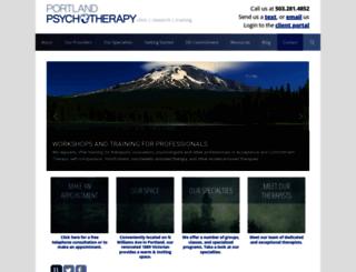 portlandpsychotherapyclinic.com screenshot