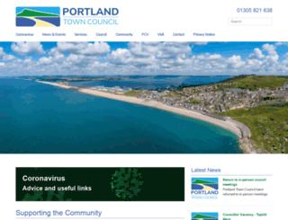 portlandtowncouncil.gov.uk screenshot