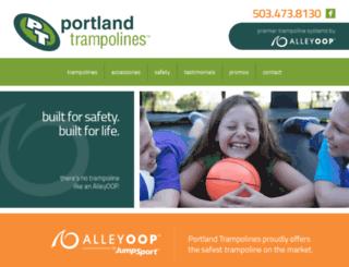 portlandtrampolines.com screenshot