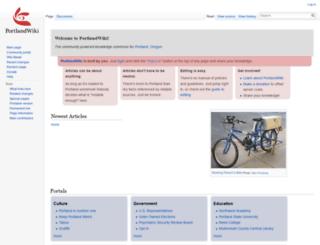 portlandwiki.org screenshot