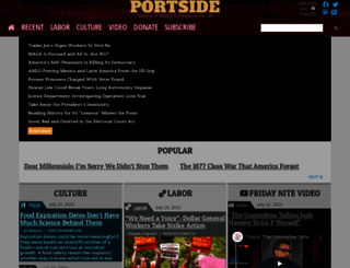 portside.org screenshot