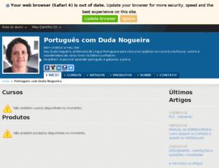 portuguescomdudanogueira.com.br screenshot