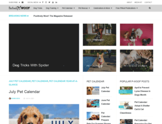positivelywoof.com screenshot