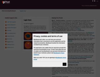post.blackboard.com screenshot