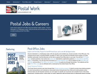 postalwork.net screenshot