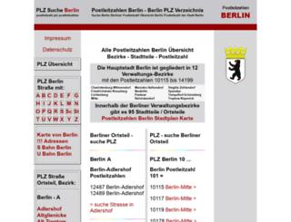 postleitzahlen-berlin.com screenshot
