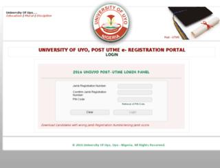 postutmeportal.uniuyo.edu.ng screenshot