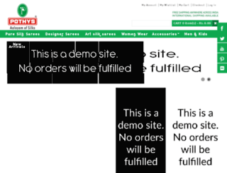 pothysgarments.com screenshot