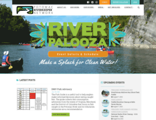 potomacriverkeeper.org screenshot