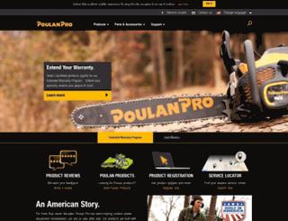 poulan.com screenshot