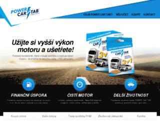 powercartab.cz screenshot
