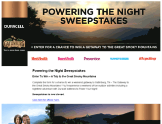 poweringthenight.com screenshot
