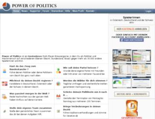 powerofpolitics.com screenshot
