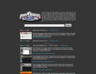 powerrangersgateway.com screenshot