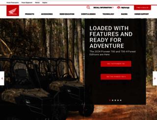 powersports.honda.com screenshot