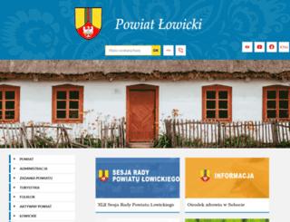 powiat.lowicz.pl screenshot