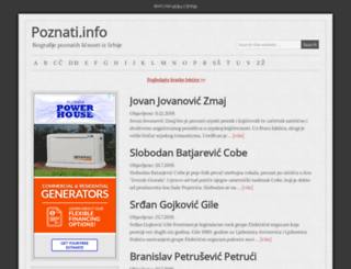 poznati.info screenshot