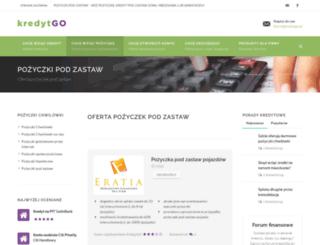 pozyczkipodzastaw.kredytgo.pl screenshot