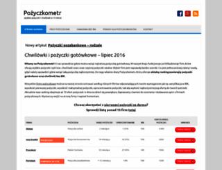 pozyczkometr.pl screenshot