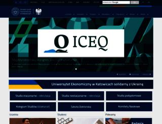 pracownicy.ue.katowice.pl screenshot
