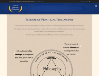 practicalphilosophy.org.za screenshot